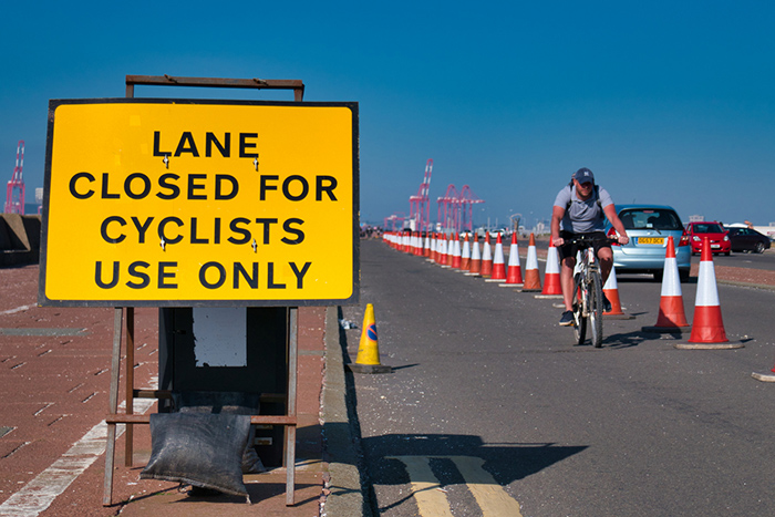 Cycling lane image